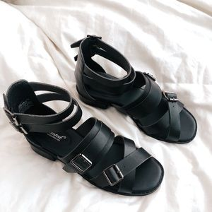 Strappy | Block Heeled | Sandals with Buckles
